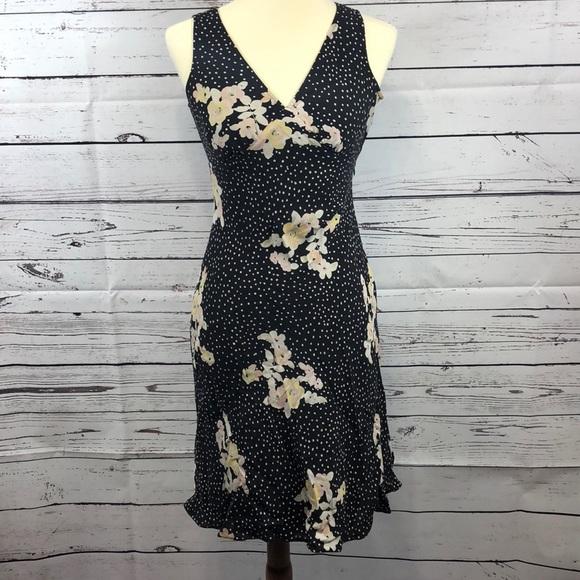 Banana Republic Dresses & Skirts - Banana Republic Black Polka Dot Floral Dress